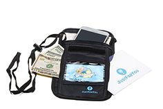 JustForYou Neck Travel Wallet RFID Black  Waterproof Passport Holder MenWomen * Continue to the product at the image link. Note:It is Affiliate Link to Amazon.