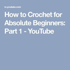 Today I'm showing you how to crochet for absolute beginners. A detailed step-by-step tutorial on how to crochet a chain and a single crochet, as well as make. Beginner Crochet Tutorial, Crochet For Beginners Blanket, Baby Blanket Crochet, Crochet Tutorials, Crochet Blankets, Baby Blankets, Learn To Sew, Learn To Crochet, Haircut Parts