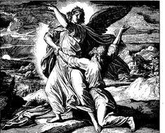 Jacob lucha con Dios. Julius Schnorr von Carolsfeld