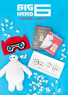 Celebrate the release of Big Hero 6 with a fun family movie night! Crafts, treats, and tutorials. #BigHero6Release