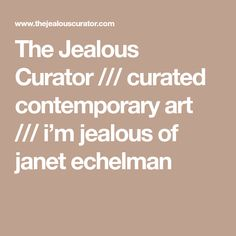 The Jealous Curator /// curated contemporary art /// i'm jealous of janet echelman