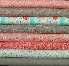 Fat Quarter Bundle of Flirt in Pink & Gray by SistersandQuilters, $22.00