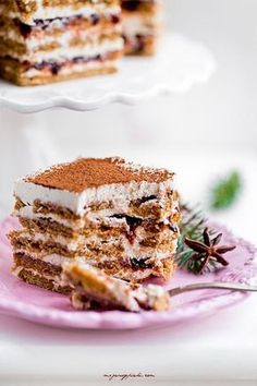 No Bake Gingerbread Layered Cake with Plum Butter Plum Butter, Polish Recipes, Polish Food, Cupcake Cakes, Cupcakes, Gingerbread, Nom Nom, Cheesecake, Yummy Food