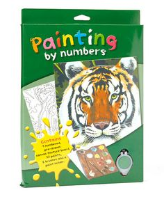 Take a look at this Tiger Paint by Numbers Set by The Small Creator: Art & Music on @zulily today!