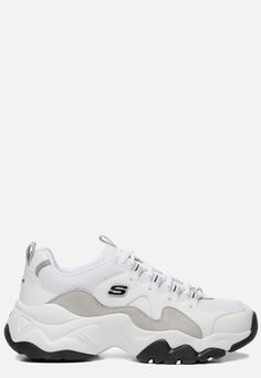 Details about New MENS SKECHERS WHITE D'LITES 3.0 LEATHER Sneakers CHUNKY SNEAKERS