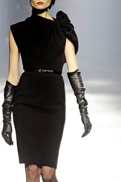 High Leather Gloves