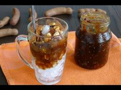 Iced Tamarind Drink - Nuoc Da Me  ~I use raw and unrefined organic coconut sugar instead of regular sugar, and omit the peanuts.