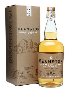DEANSTON 12 YEAR OLD.  **HAD IT**  A relaunch in fancy packaging for Burn Stewart's Deanston single malt, previously famous as the whisky used in the much-missed Wallace whisky liqueur. Trivia snitched from the Malt Whisky Yearbook: Deanston is the only distillery in Scotland that is self-sustaining for electricity, being equipped with a dam and a turbine. #whisky #whiskey £29.25