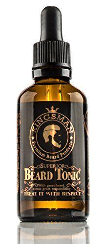 Kingsman Superior Beard Tonic - beard oil for beard growth and enhanced facial hair, large 50ml