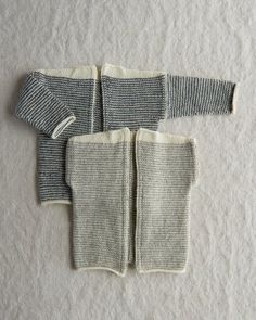 Ravelry: Tiny Stripes Cardigan + Vest pattern by Purl Soho Knitting For Kids, Baby Knitting Patterns, Free Knitting, Knitting Needles, Baby Vest, Baby Cardigan, Crochet Baby, Knit Crochet, Knit Vest Pattern
