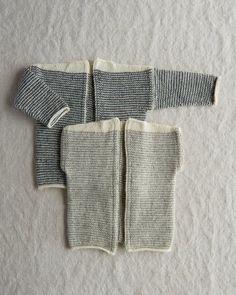 Ravelry: Tiny Stripes Cardigan + Vest pattern by Purl Soho Knitting For Kids, Baby Knitting Patterns, Free Knitting, Knitting Ideas, Knitting Projects, Knitting Machine, Knitting Needles, Crochet Patron, Knit Crochet