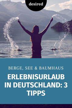 Aufregender Erlebnisurlaub in Deutschland – zu zweit oder mit der ganzen Familie – das geht! Wir zeigen dir die schönsten Tipps für eine unvergessliche Reise, die garantiert nicht 0-8-15 ist!  #erlebnisurlaub #deutschland #traumreisen Rafting, Wanderlust, Movies, Movie Posters, Films, Film Poster, Cinema, Movie, Film