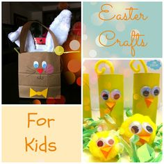 Sun Scholars: Easter Crafts for Kids.  Three simple, and inexpensive crafts for this Easter!