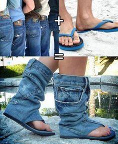 jeans ojotas