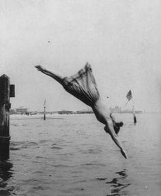 diving woman, 1892