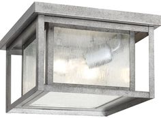 Sale: $108.09  Sea Gull Lighting 78027-57 Hunnington Transitional Outdoor Flush Mount Ceiling Light SG-78027-57