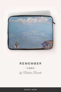 """""""Remember"""" by Nicholas Roerich Nicholas Roerich, Back To Black, Laptop Sleeves, Snug, Zip Around Wallet, Fabric, Tejido, Notebook Covers, Fabrics"""