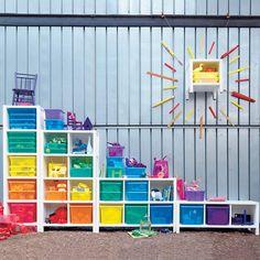 Kids' Bookcases: Kids 5-Cube White Wooden Bookcase in Bathroom Storage