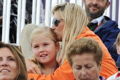 Olympics Day 7 - Equestrian August 02, 2012 Princess Maxima kisses her daughter Princess Amalia.