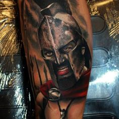 http://tattooideas247.com/gerard-butler/ Gerard Butler Spartan Tattoo #300, #Film, #GerardButler, #Greek, #Movie, #Sleeve, #Spartan, #TattooIdea