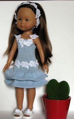 ★★Vêtement compatible Poupée Corolle Les Chérie de 33 cm★★ American Girl Clothes, Girl Doll Clothes, Barbie Clothes, Girl Dolls, Baby Dolls, Nancy Doll, Baby Layette, Doll Wardrobe, Knitted Dolls