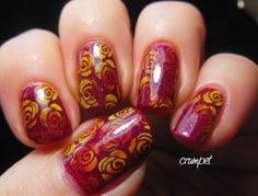 Tri Polish Challenge - Red, Yellow and Orange - ROSES