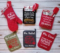 12 Teacher Potholder Sets, each come with spatula and cookie/brownie mix. Teacher Valentine, Teacher Christmas Gifts, Holiday Gifts, Christmas Crafts, Daycare Teacher Gifts, Christmas Ideas, Bus Driver Gifts, Teacher Appreciation Gifts, Employee Appreciation