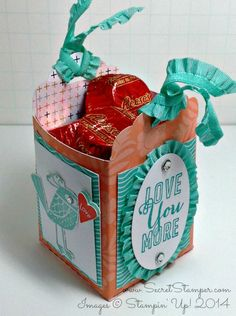 Scallop Tag Topper Punch Treat Bag