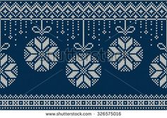 Christmas and New Year Knitting Pattern. Winter Holiday Seamless Sweater Design. - stock vector