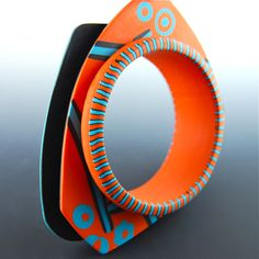 spinner bracelet    just finished the bracelet that I started to make on Donna Kato's workshop at Bad Hamburg ECC 2011  it has two disks that are spinning around the base  SHIMSHONI FLICKER