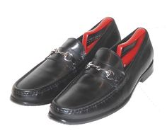 b6659af58f2 Cole Haan Men s Black Leather Horse Bit Loafer Slip On Shoe Size 10.5 M   ColeHaan  LoafersSlipOns