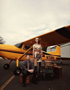 A Vintage Travel Inspired Anniversary. Shot by Alison Conklin and styled by Styled Creative.