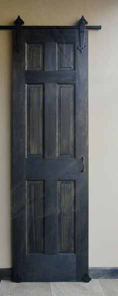 the handforged of this sliding barn door kit will bring rustic charm to