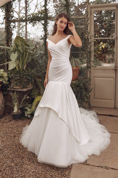Justin Alexander Bridal Mermaid Trumpet Wedding Dresses, Mermaid Gown, Wedding Gowns, Modest Wedding, Corsage, Tulle En Satin, Justin Alexander Bridal, Blush Bridal, Bridal Gown