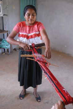 Belt Loom Naupan Puebla by Teyacapan, via Flickr
