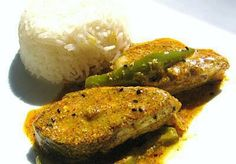 Most authentic bengali dish-steamed rice & hilsa fish in mustard sauce!