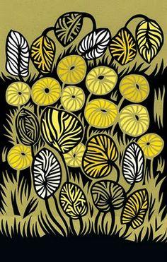'Yellow Jungle' print by artist & designer Petra Börner.