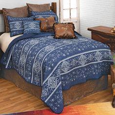 Western Furniture, Furniture Decor, Southwest Bedroom, Western Bedding Sets, Black Forest Decor, Denim And Diamonds, Leather Pillow, Western Homes, Home Decor Online