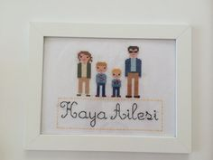Cross stitch pixel family