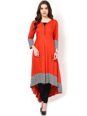 AKS Red Anarkali Kurta
