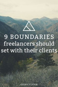 9 Boundaries freelancers should set with their clients