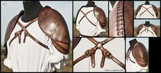 Heavy Formed Leather Spaulders by *Adhras on deviantART