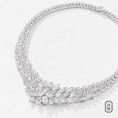 HarryWinston Jewels like no other. 195 of the rarest diamonds give this stunning Harry Winston necklace an incomparable sparkle. #HighJewelry