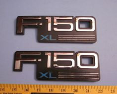Ford F -150 XL Factory Front Fender Emblems
