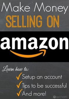 Did you know that you can make money selling on Amazon? Most people only think about buying items from Amazon and not selling. Check out how you can get started selling on Amazon to make extra cash. make money from home, ways to make money at home
