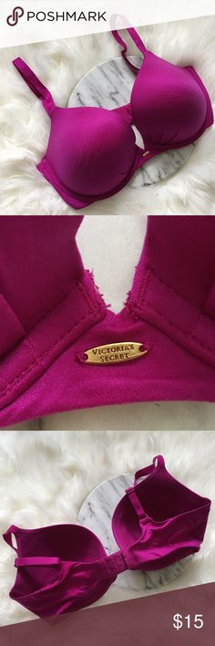 Victoria Secret Fabulous Plunge Magenta Bra Victoria Secret Fabulous Plunge Magenta Bra. Size 36DD. Bra is slightly padded. This is one of my favorites for VS. So comfortable and flattering to wear! Thank you for looking at my listing. Please feel free to comment with any questions (no trades/modeling).  •Condition: Excellent, no major flaws. ✨Bundle and save!✨10% off 2 items, 20% off 3 items & 30% off 5+ items! KB Victoria's Secret Intimates & Sleepwear Bras