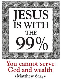 Jesus with the 99%