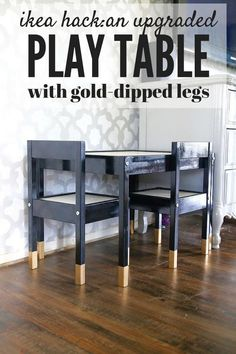 Every kid needs an awesome space to play - the IKEA LATT table is the perfect canvas for a beautiful play table for your little one! Ikea Toddler Table, Ikea Kids Chairs, Toddler Table And Chairs, Ikea Table, Ikea Hacks, Diy Hacks, Kids Furniture, Luxury Furniture, Diy Home Decor