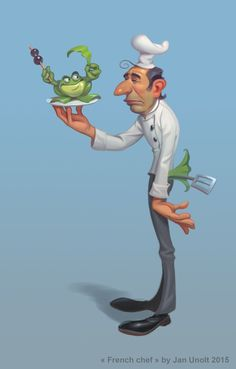 ArtStation - french chef character, Jan Unolt