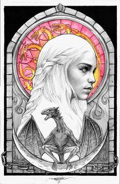 Game of Thrones - Daenerys Targaryen by Brian Loepz-Santos